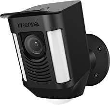 Cover for Ring Spotlight Camera Silicone Skin Outdoor Cover Case Weather Resistant Rainproof Sunproof Protection - Compatible with Ring Spotlight Cam Battery Security Camera by Frienda (Black)