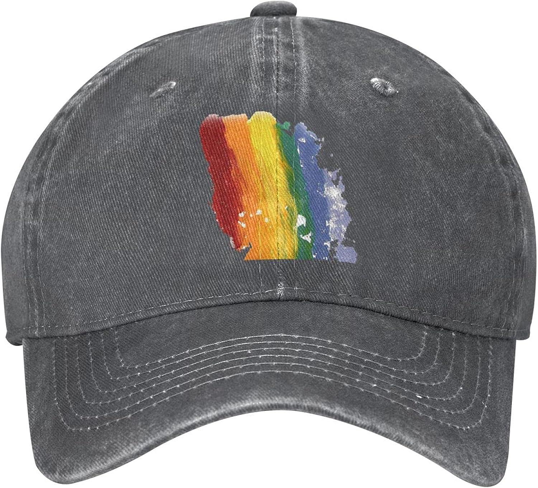LGBT Rainbow Pride Galaxy Wolf Hat Cool Baseball Caps Trucker Cap Dad Hat Running Hats Men Women Teenager