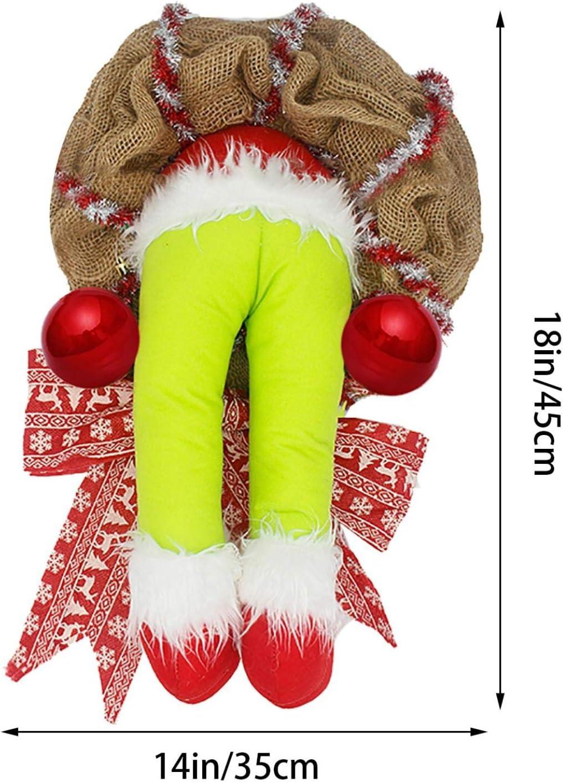 kreative Weihnachtskr/änze f/ür Dekor B-14inch Weihnachtsdieb gestohlen Weihnachts Sackleinen Kranz Dekoration Indoor Outdoor K/ürbis Ahorn Blatt Tannenzapfen Herbst Herbst Kranz