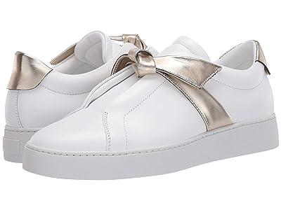 Alexandre Birman Clarita Sneaker (White/Light Gold) Women