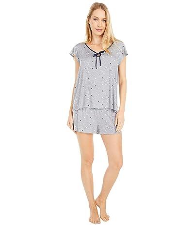 Kate Spade New York Modal Spandex Jersey Short Pajama Set (Grey Dot Space) Women