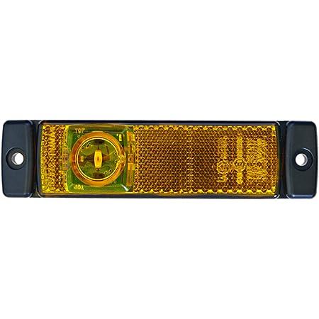 Hella 2ps 008 645 011 Seitenmarkierungsleuchte Led 12v Lichtscheibenfarbe Gelb Led Lichtfarbe Gelb Anbau Kabel 1500mm Einbauort Links Rechts Auto