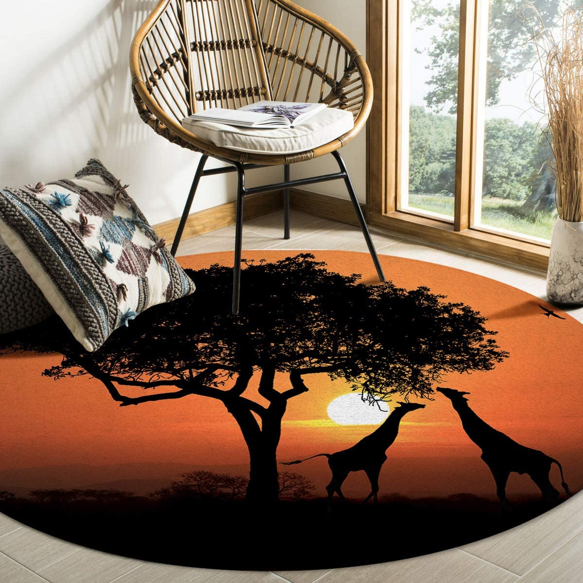 Soft Stain-Proof Round Elegant Area Safety and trust Rug Anti-Skid Rugs Floor Mat Runner