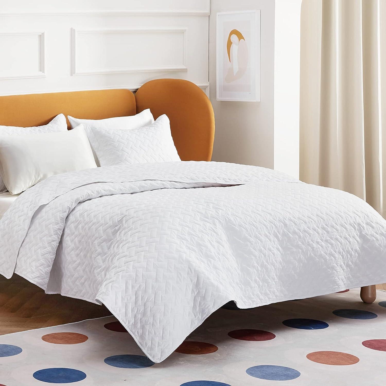 Bedsure Quilt Sets Queen - White Ranking TOP9 Beding Lightweight Max 79% OFF