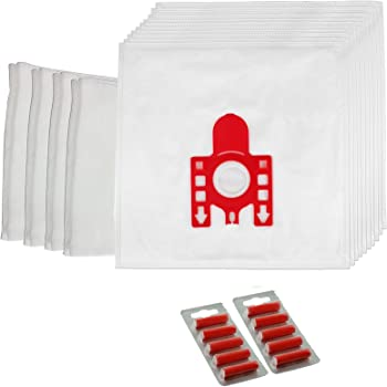 Spares2go - Bolsas de polvo para aspiradoras Miele FJM S500 S510 S511 S512 S571 S578 S599 (juego de 10 + 4 filtros + 10 ambientadores): Amazon.es: Hogar