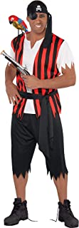 Amscan 844220 Ahoy Matey Fancy Dress Standard Size, Red/Black