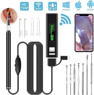 WIFI 耳かき カメラ 最新版iphone対応可能VITCOCO 耳かきスコープ 耳掃除USB 内視鏡 携帯電話3in1 USB接続口高画質720P HDカメラのOTG機能 レンズ LEDライト6灯付き 輝度調整機能 なIP67防水アプリケー...