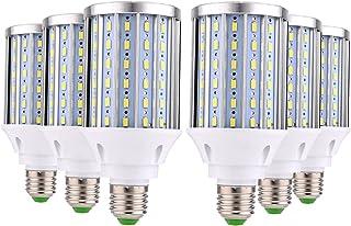 Z.L.F.J.P LED電球ランプ E27 108LED 5730SMD 35W 3400-3500 Lm ウォームホワイト クールホワイト装飾 LEDコーンライトAC 85-265V(6パック) (サイズ : 冷たい白)