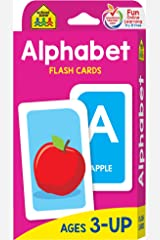School Zone - Alphabet Flash Cards - Ages 3 and Up, Preschool, Letter-Picture Recognition, Word-Picture Recognition, Alphabet, and More Cards