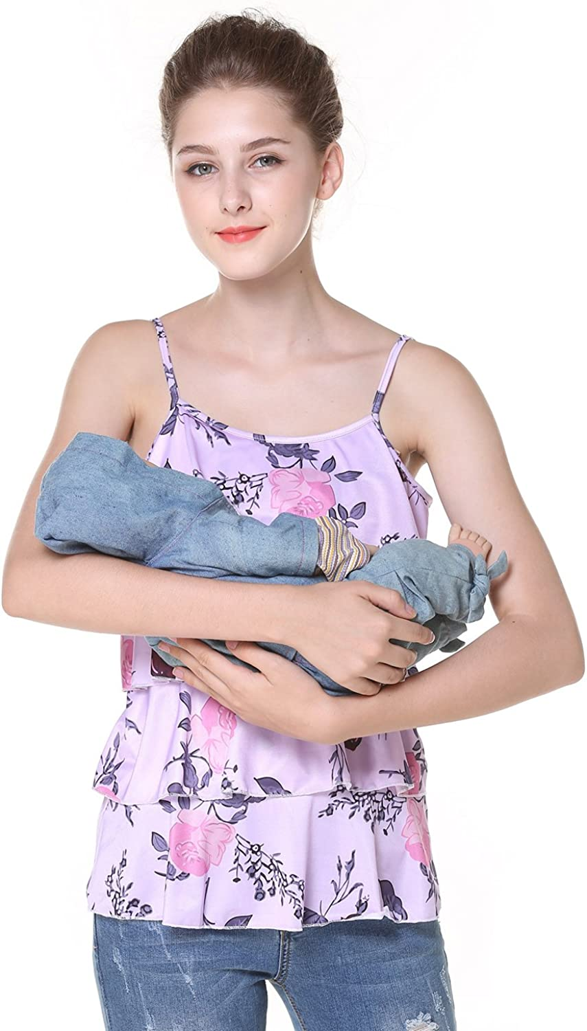 Chulianyouhuo Women's Sleeveless Letter Printing Obstetric Care Tops Breastfeeding Condole Belt TShirts Vest