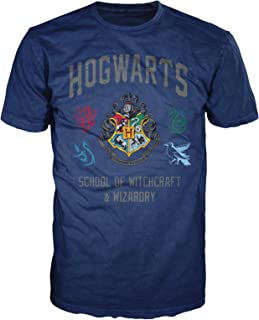 Hogwarts Crest Witchcraft and Wizardry Men's Adult Graphic Tee T-Shirt