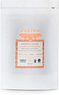 JusTea SUNKISSED ROOIBOS | Loose Leaf Herbal Tea in a Compostable Refill Pouch | 40+ Cups (2.5oz) | Caffeine Free | Award-...