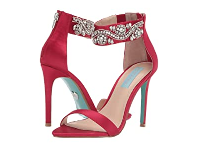 Blue by Betsey Johnson Brie Sandal (Red Satin) Women