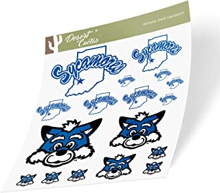 Indiana State University Full Sheet Sticker Vinyl Decal Laptop Water Bottle Car Scrapbook (Full Sheet 2-Logo)