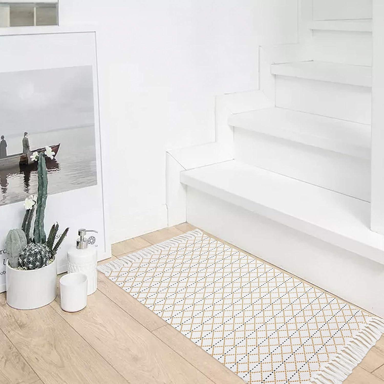 Buy MUBIN Boho Bathroom Rug with Tassel, 20'x20' Moroccan Cotton ...