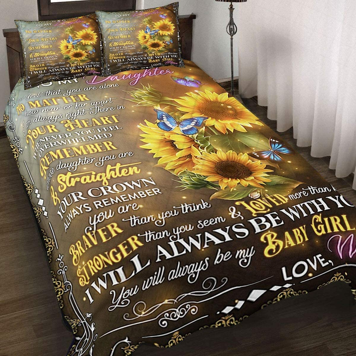 Special Blanket Popular popular for Daughter Quilt Set Genuine Free Shipping Sunflower - Bedding