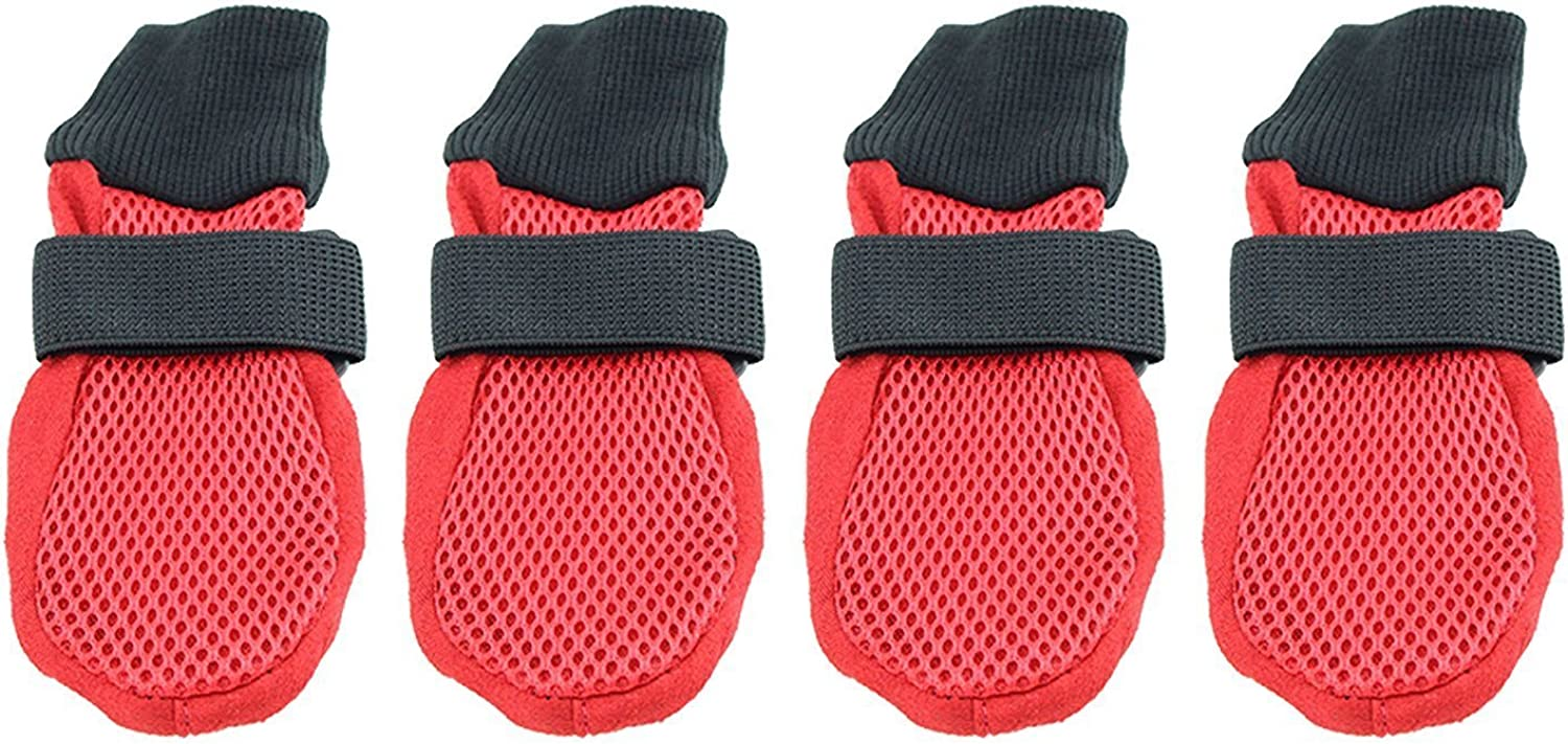 Breathable Mesh Summer Dog shoes by Midlee (Large)