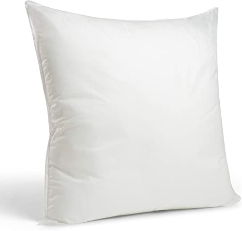 """2021 Foamily Premium Hypoallergenic Stuffer new arrival Pillow Insert Sham Square Form Polyester, 26"""" L X 26"""" W, Standard / online sale White outlet online sale"""