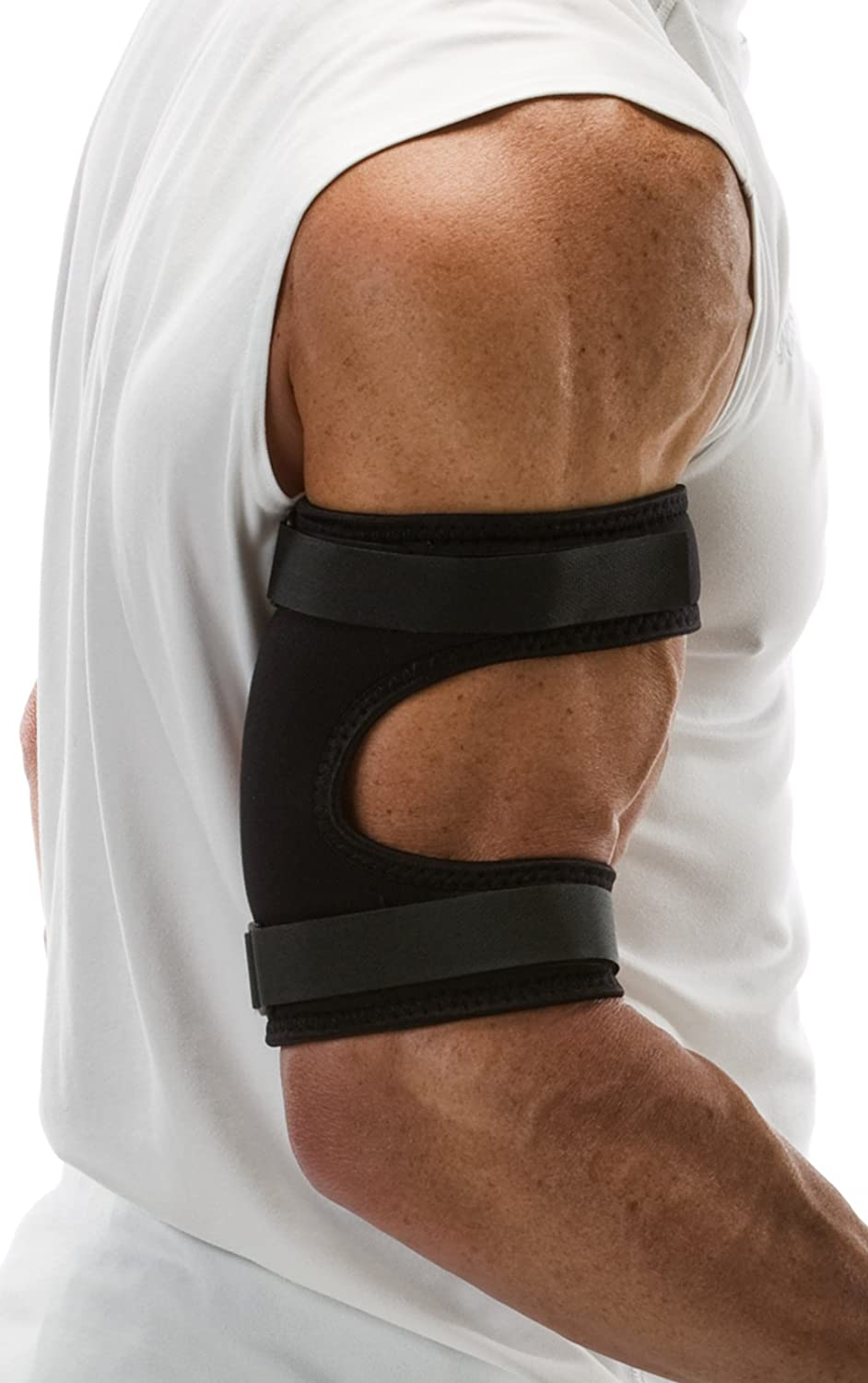 The ChoPat Biceps Strap with Dynamic Pain DiffusionTM Prevents The Pulling and Tearing of Tendon and Muscles in Bicep Area.
