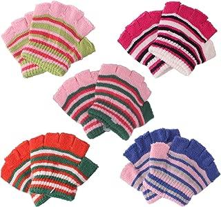 2/3Pairs Baby Toddler Kids Boy Girl Wool Winter Fall Spring Magic Fingerless Gloves