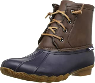 Skechers Women's Pond-Lace Up Mid Duck Boot with Waterproof Outsole Rain
