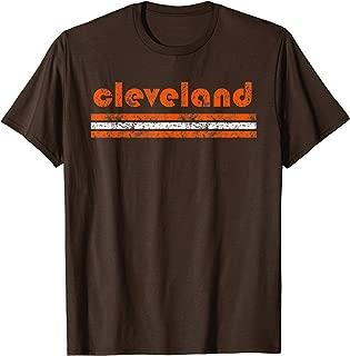 Cleveland Ohio Vintage Three Stripe Weathered T-Shirt