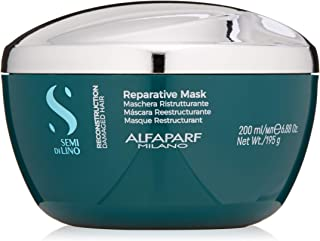 Alfaparf Milano Semi Di Lino Reconstruction Reparative Mask for Damaged Hair, Sulfate Free - Safe on Color Treated Hair - Paraben and Paraffin Free - Professional Salon Quality