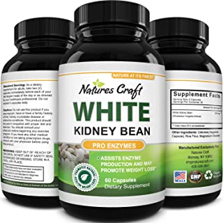 White Kidney Bean Energy Booster - White Kidney Bean Extract Pill and Natural Vegetarian Supplements - Natural Energy Pill...