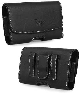 lg 306G Dare VX9700 Arena Xpression C395 Converse Premium Leather Pouch Case Holster Belt Clip & Belt Loops