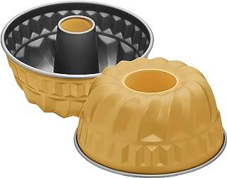 Kaiser Moule à kouglof Happy Colors - Mini moule à kouglof rond - 16 cm - Anti-adhésif - Pour 1/2 recettes - Orange
