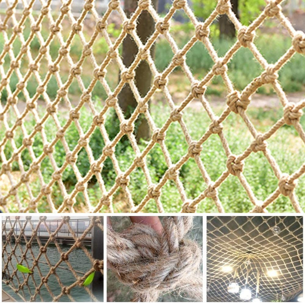 Hemp Rope Net lowest price Bargain sale Balcony Jute Protective Netting Deco