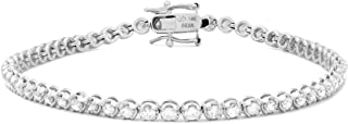 Femme Luxe Emma Diamond Bracelet for Women (2.00 Carats, G-H Color, I2 Clarity), 14K White Gold, with Gift Box, Giftable J...