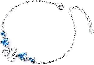 Sterling Silver Irish Celtic Knot Claddagh Lover Heart Shaped Pendant Necklace Bracelet Earrings