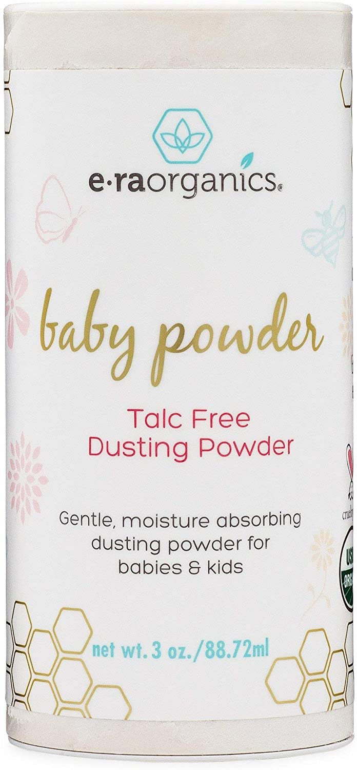 Baby Powder Talc Free - USDA Certified Organic Dusting Powder for Excess Moisture & Chafing That's Actually Good for Your Skin- Non Toxic, Non-GMO, Cruelty Free Era-Organics
