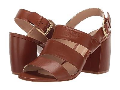 Massimo Matteo Haley Strap Heel (Caramel) Women