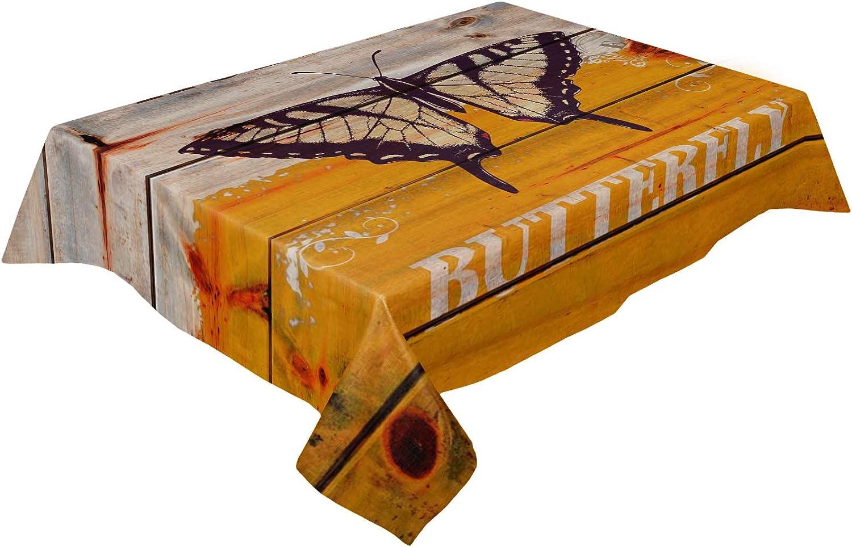 Bombing new work Savannan Rectangle Kitchen Tablecloth Bur Max 47% OFF 60x162 Dust-Proof Inch