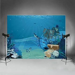 Hintergründe für Tauch Thema, Unterwasserwelt, Urlaub, Party, Fotoautomat, Sommer, Geburtstag, Dekoration, Goldener Strand, Piratenschatz FT6702