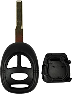 QualityKeylessPlus Replacement Remote Head Key 3 Button Case for Saab FCC ID KHH20TN1 with 2 Track Blade
