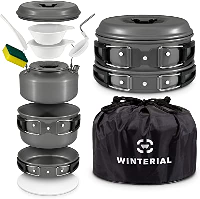 Winterial Camping Cookware and Pot Set - Best Camping Cookware For Family cooking