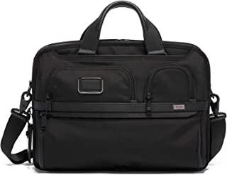 TUMI - Alpha 3 T-Pass Medium Screen Laptop Slim Brief Briefcase - 14 Inch Computer Bag for Men and Women