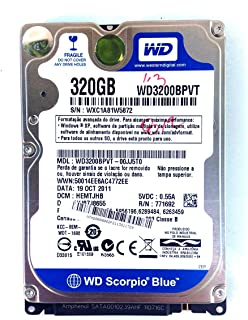 Hd Sata 320gb Western Wd3200bpvt Notebook (1 Bad) #1242