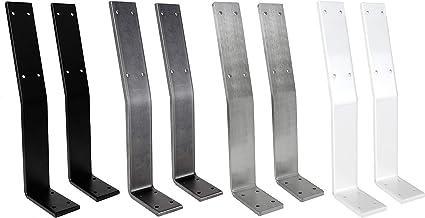 2x Natural Goods Berlin Rugleuninghouder | zwart, wit, industrieel en roestvrij staal | probleemloze bevestiging van rugle...