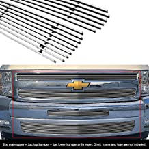 APS Compatible with 2007-2013 Chevy Silverado 1500 Billet Grille Grill Insert Combo C61133A