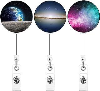 حامل شارة قابل للسحب حلقة تعليق على حامل بطاقات الهوية (C1، 3 قطع) سماء مليئة بالنجوم