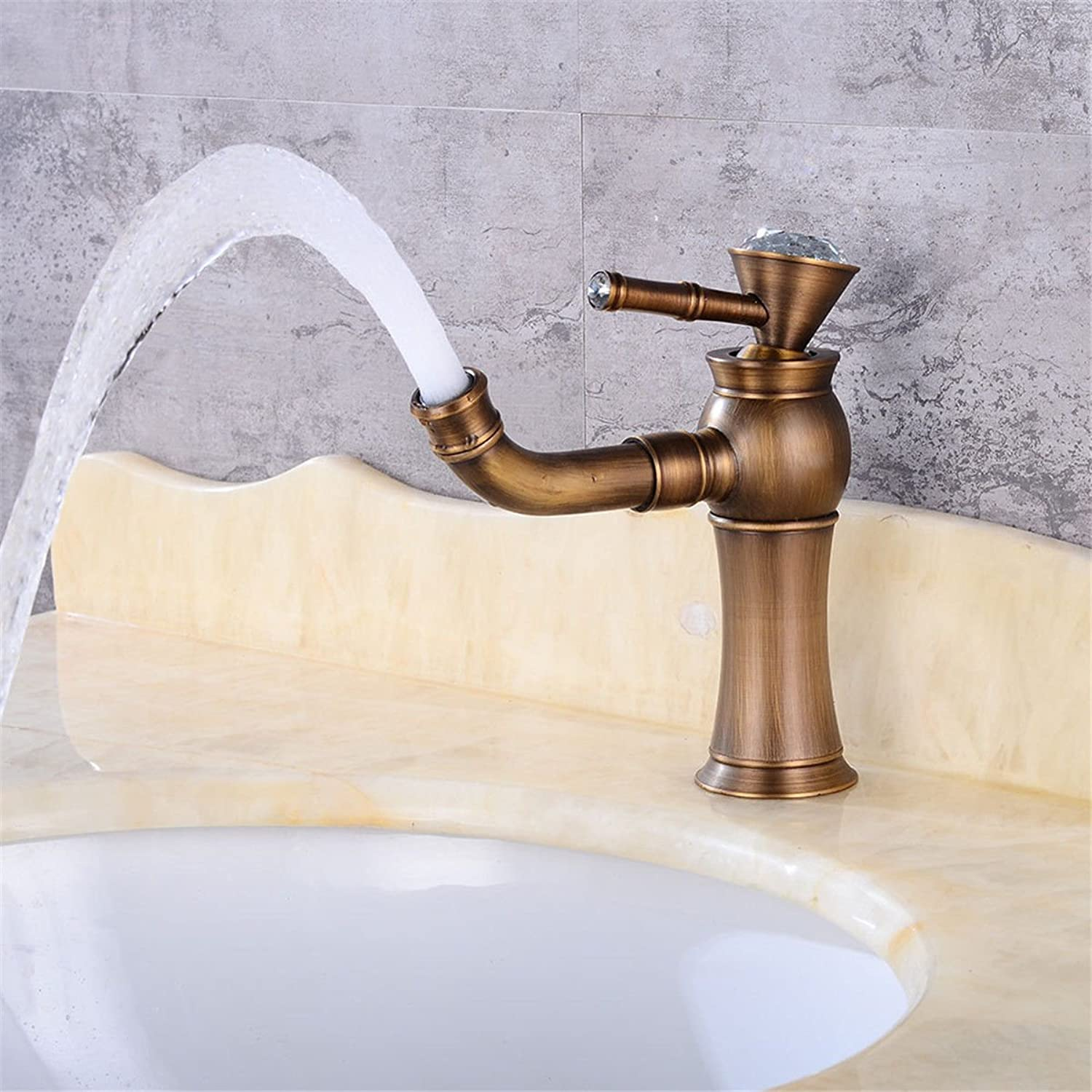 AQMMi Basin Taps Bathroom Sink Faucet Antique Brass redatable Bathroom Sink Faucet Basin Mixer Tap