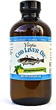 Virgin Cod Liver Oil - Natural, Wild Caught & Fresh Tasting (Lemon and Peppermint Flavored)