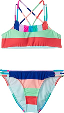 Hobie Kids Island Vibin Bralette and Strappy Hipster Set (Big Kids)