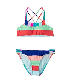 Island Vibin Bralette and Strappy Hipster Set (Big Kids)