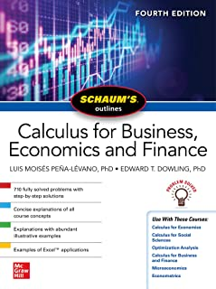Schaums Outline of Calculus for Business, Economics and Finance, Fourth Edition