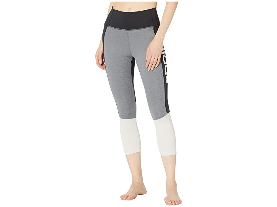 adidas Designed-2-Move High-Rise 3/4 Tights (Black/Raw White) Women's Casual Pants, Multi